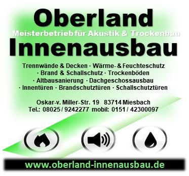 Trockenbau,Altbausanierungen,Brandschutz,Schallschutz ,Wärmeschutz ,  Oberland Innenausbau   Startseite